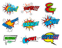 Free Set Of Comic Text, Pop Art Style Phrases Stock Images - 66695754