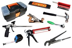 Free Set Of Construction Tools. Tool For Repair. Royalty Free Stock Photo - 105949525