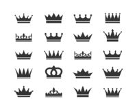 Free Set Of Crown Icons. Collection Of Crown Awards For Winners, Champions, Leadership. Vector Isolated Elements For Logo, Label, Game, Royalty Free Stock Images - 153919179