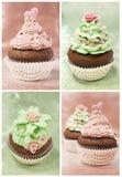 Set Of Cupcakes Stock Photos