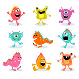 Set Of Cute Little Monsters 2 Stock Photos