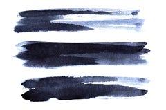 Free Set Of Dark Bluish Brush Strokes Stock Photo - 93173100