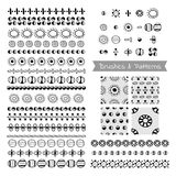 Set Of Decorative Elements, Vector Brushes, Borders, Patterns Royalty Free Stock Image