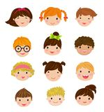 Set Of Different Avatars Of Boys And Girls On A White Background Royalty Free Stock Photos