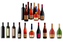 Set Of Different Bottles. Vector Royalty Free Stock Photos