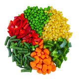 Set Of Different Frozen Vegetables