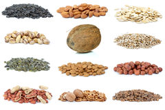 Set Of Different Nuts Stock Photo