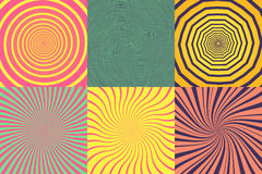 Free Set Of Different Psychedelic Spiral, Vortex, Twirl. Vector Colorful Backgrounds Collection. Stock Photo - 93859990