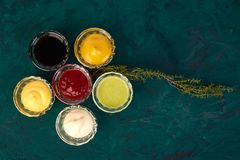 Free Set Of Different Sauces. Stock Image - 110924311