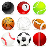 Set Of Different Sports Balls Stock Images