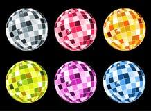 Set Of Disco Balls Stock Photo