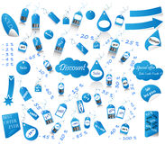 Set Of Discount And Price Tags Stock Photos