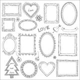 Set Of Doodle Frames And Elements Royalty Free Stock Photo