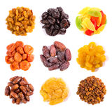 Set Of Dried Fruits Top View Stock Photography