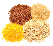 Set Of Dry Food Stock Image