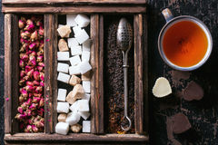 Set Of Dry Tea Royalty Free Stock Images