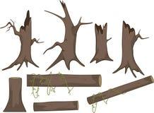 Free Set Of Dry Trees Cartoon Royalty Free Stock Image - 37021136