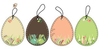 Free Set Of Easter Tags Stock Images - 18587694