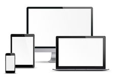 Set Of Electronic Devices. Stock Photography