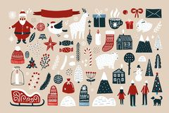 Free Set Of Elements For Christmas Design Royalty Free Stock Image - 133568096