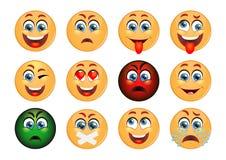 Set Of Emoticons. Set Of Emoji. Smile Icons. Royalty Free Stock Photography