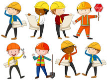 Free Set Of Engineers And Construction Workers Royalty Free Stock Images - 74438299