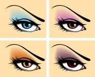 Set Of Eyes Royalty Free Stock Images