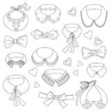 Set Of Fashion Collars Stock Images
