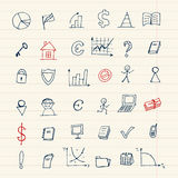 Set Of Finance Icons For Your Design Stock Photography