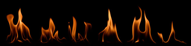 Free Set Of Fire Flames Stock Images - 93337224