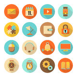 Set Of Flat Colorful Icons Royalty Free Stock Photography