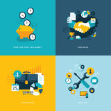 Set Of Flat Design Concept Icons For Business Stock Photo