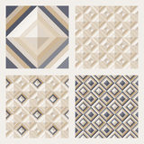 Set Of Floor Tiles. Patterns With Square Diamonds Royalty Free Stock Photo