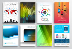 Free Set Of Flyer Design, Web Templates. Brochure Designs Royalty Free Stock Photos - 47364248