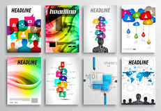 Free Set Of Flyer Design, Web Templates. Brochure Designs, Technology Backgrounds Royalty Free Stock Photos - 47365988