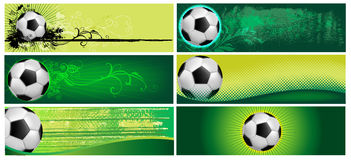 Free Set Of Football Backgrounds Royalty Free Stock Photography - 24936417
