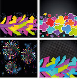 Set Of Four Colorful Backgrounds Stock Photography