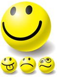 Set Of Four Smiles-ball For You Design. Royalty Free Stock Images