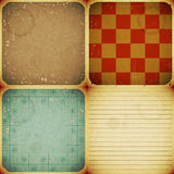 Set Of Four Vintage Backgrounds Stock Image