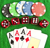 Set Of Gambling Objects Royalty Free Stock Photo