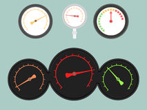 Set Of Gauges Royalty Free Stock Photos