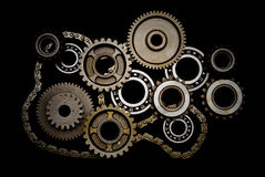 Free Set Of Gears, Ball-bearings And Chain Stock Photo - 5816840