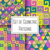 Set Of Geometric Patterns Stock Image