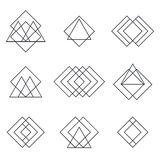 Set Of Geometric Shapes Triangles, Lines For Your Design. Trendy Stock Photos