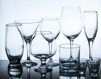 Set Of Glasses Stock Photos