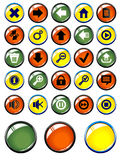Set Of Glossy Buttons For The Web Stock Photo