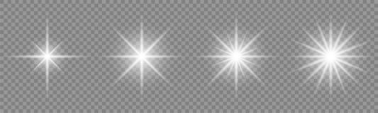Free Set Of Glowing Light Effect And Stars. Shining Star. Royalty Free Stock Image - 129533316