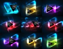 Free Set Of Glowing Neon Light Effects Digital Backgrounds Royalty Free Stock Photo - 108082005