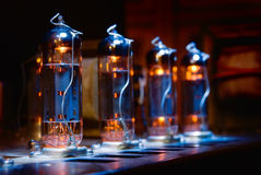 Free Set Of Glowing Vacuum Electron Tubes Stock Photography - 34289432