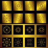 Set Of Gold Elements For Design Royalty Free Stock Images